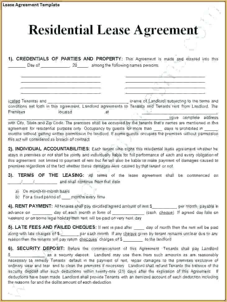 Free Download Lease Agreement Template South Africa