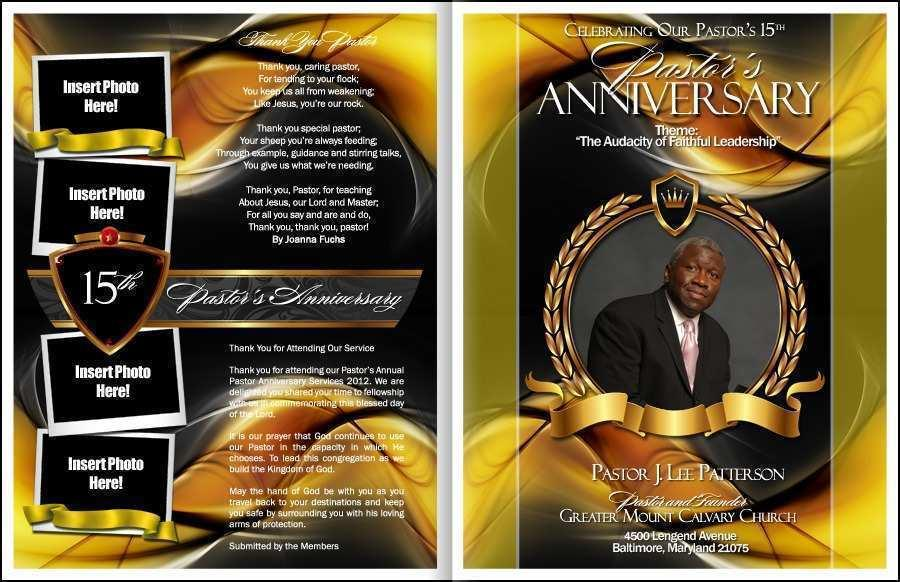 Free Download Pastor Anniversary Program Templates