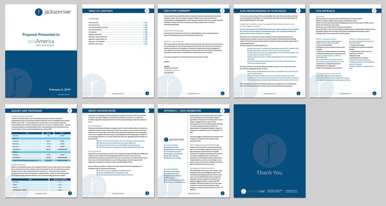 Free Download Proposal Template Word