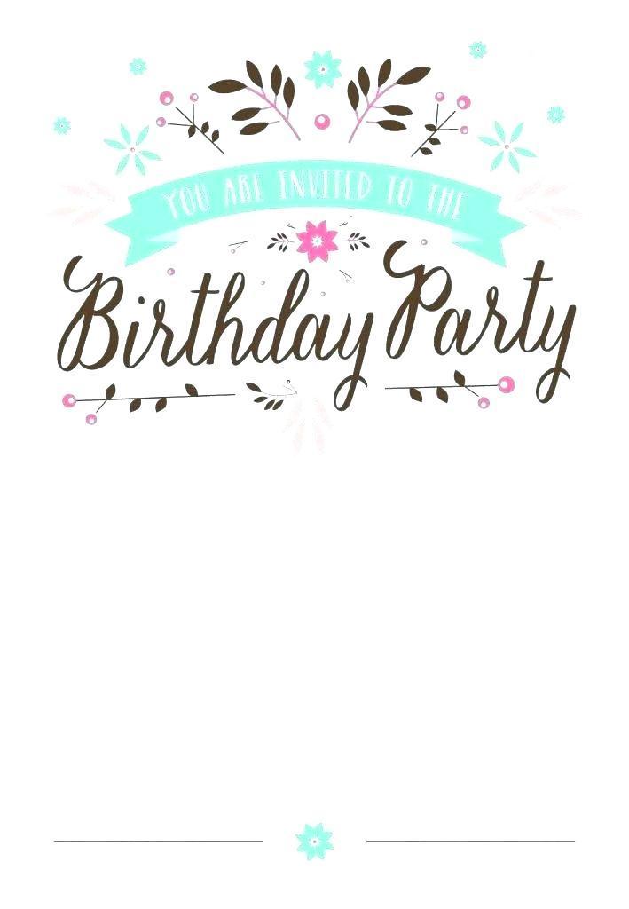 Free Downloadable Birthday Invitation Maker