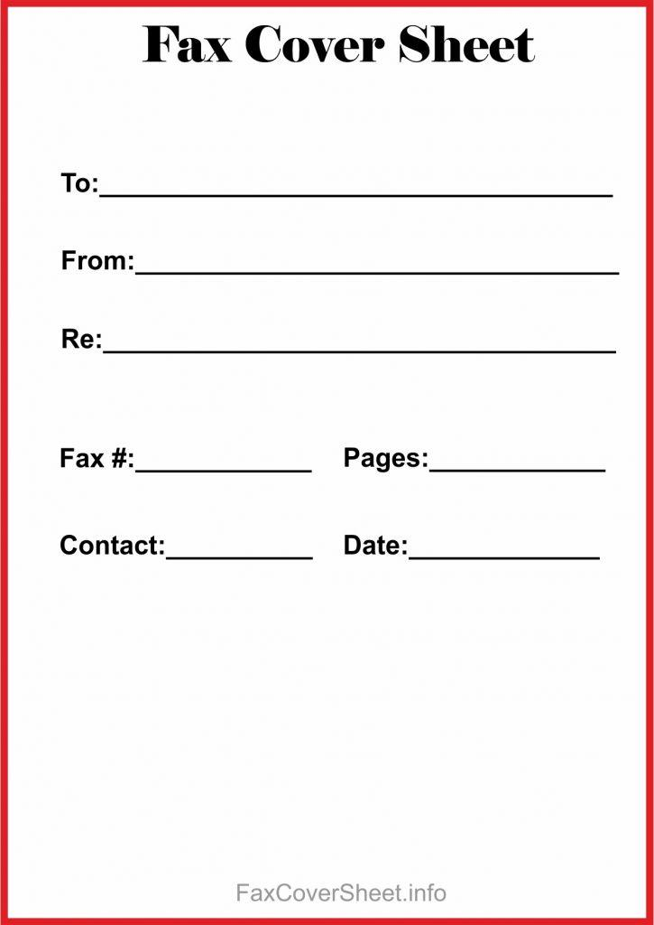Free Downloadable Fax Cover Sheet Template