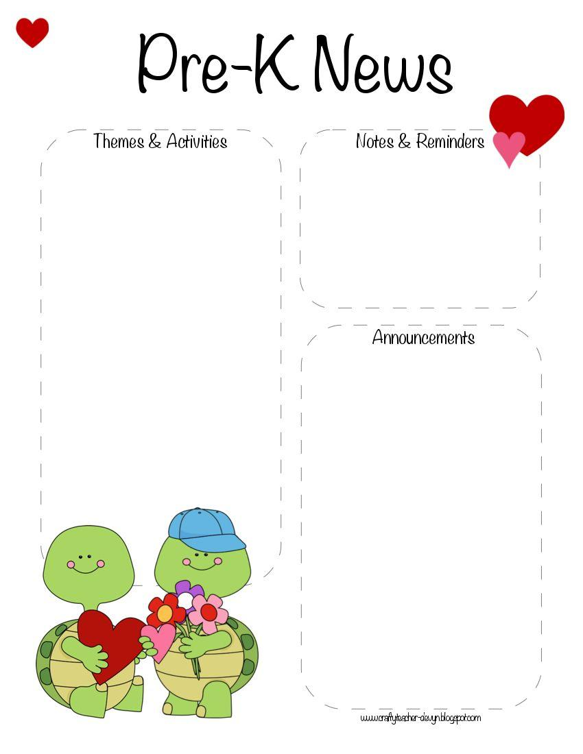 Free Downloadable February Newsletter Templates