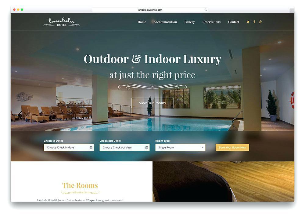 Free Dreamweaver Hotel Website Templates