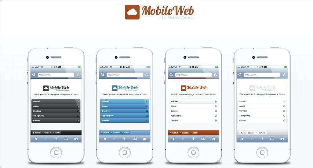 Free Dreamweaver Mobile App Templates