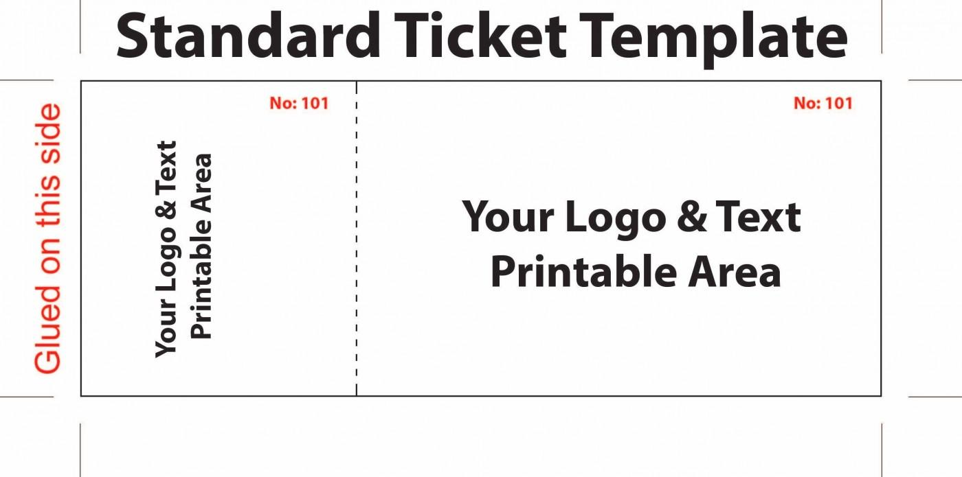Free Drink Ticket Template Word