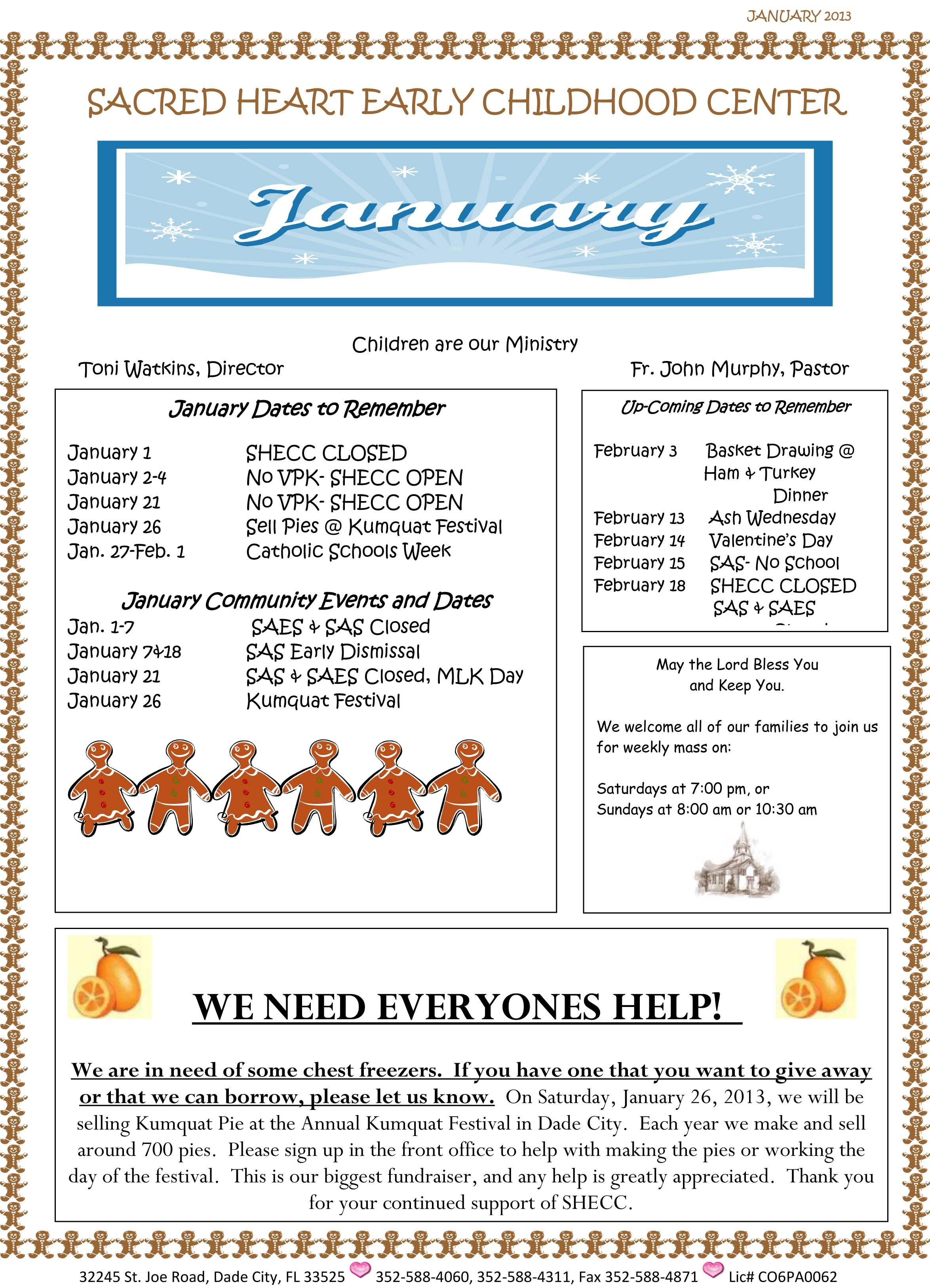 Free Early Childhood Newsletter Templates