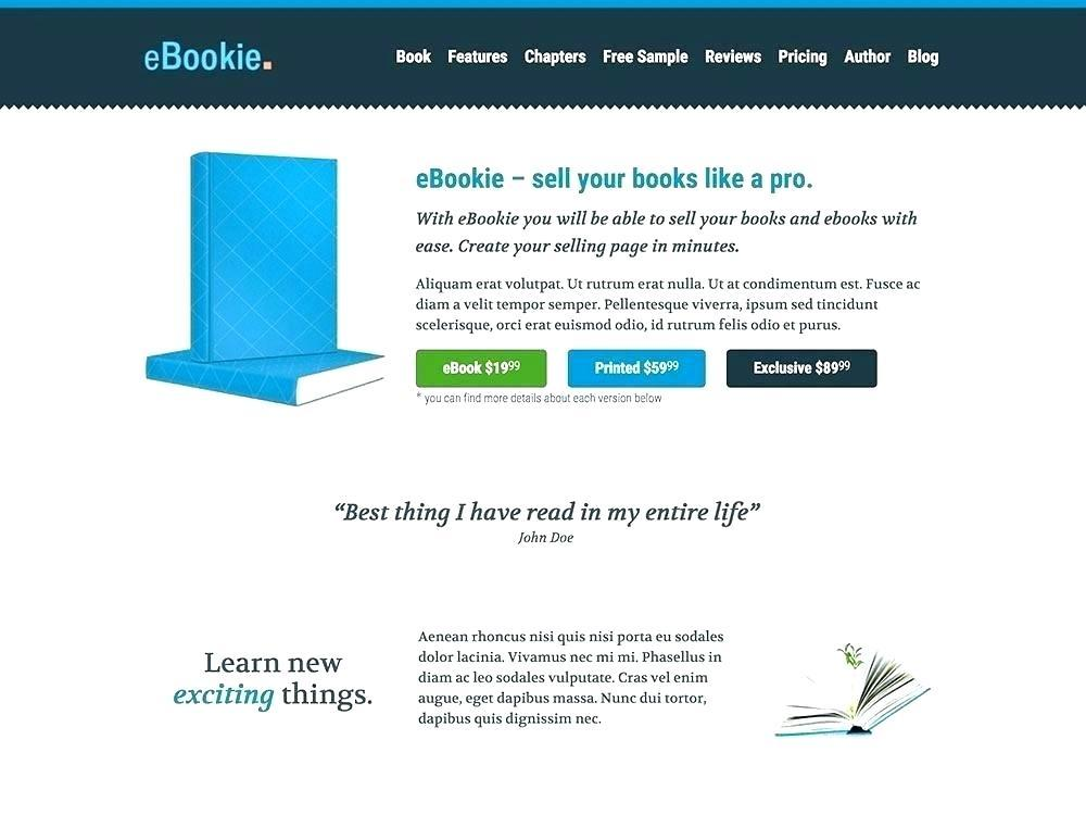 Free Ebook Landing Page Templates
