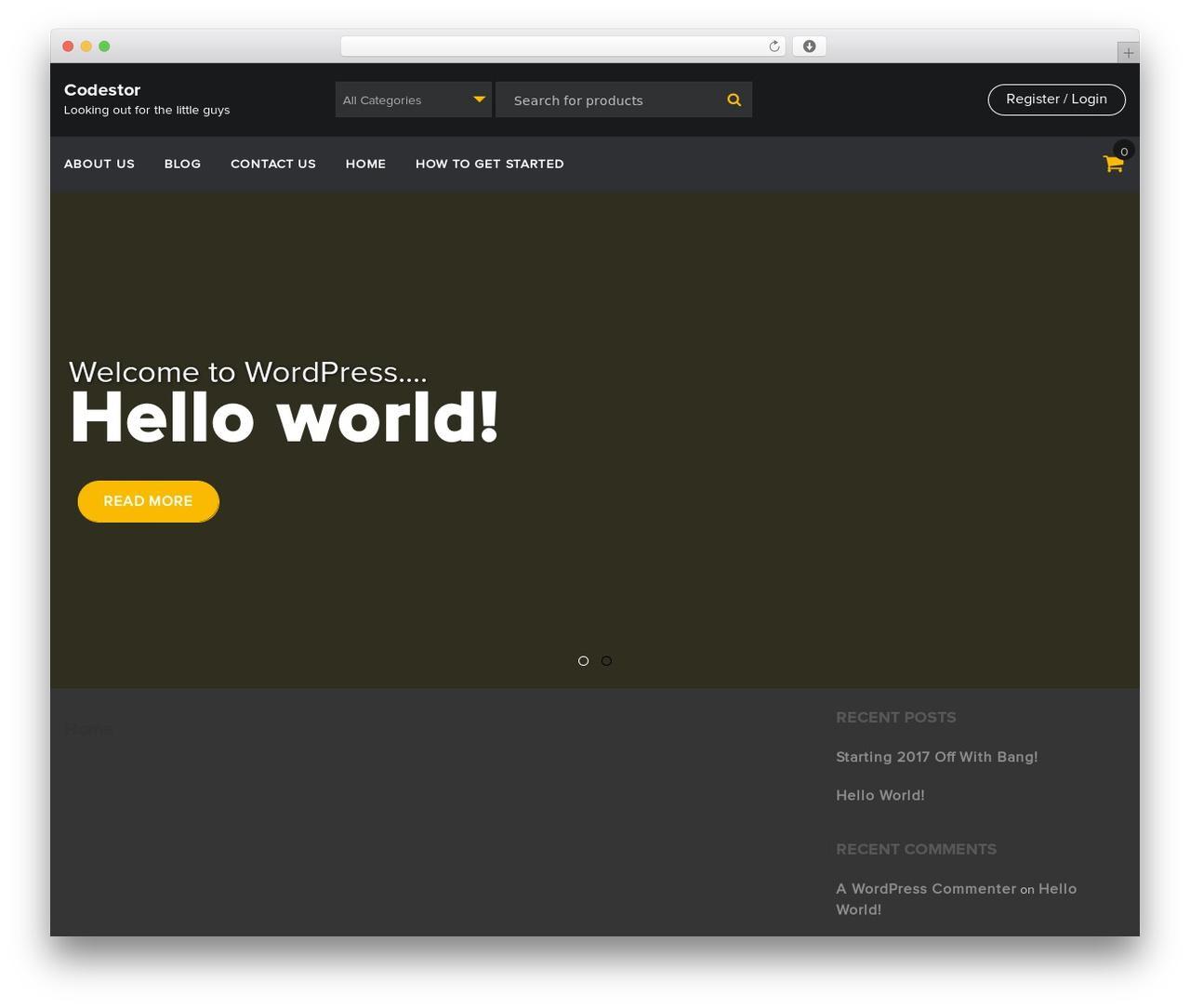 Free Ecommerce Template WordPress