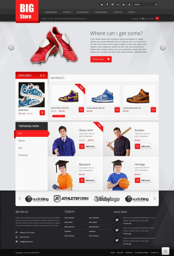 Free Ecommerce Website Templates For Dreamweaver