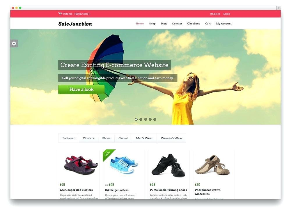 Free Ecommerce Websites Templates WordPress