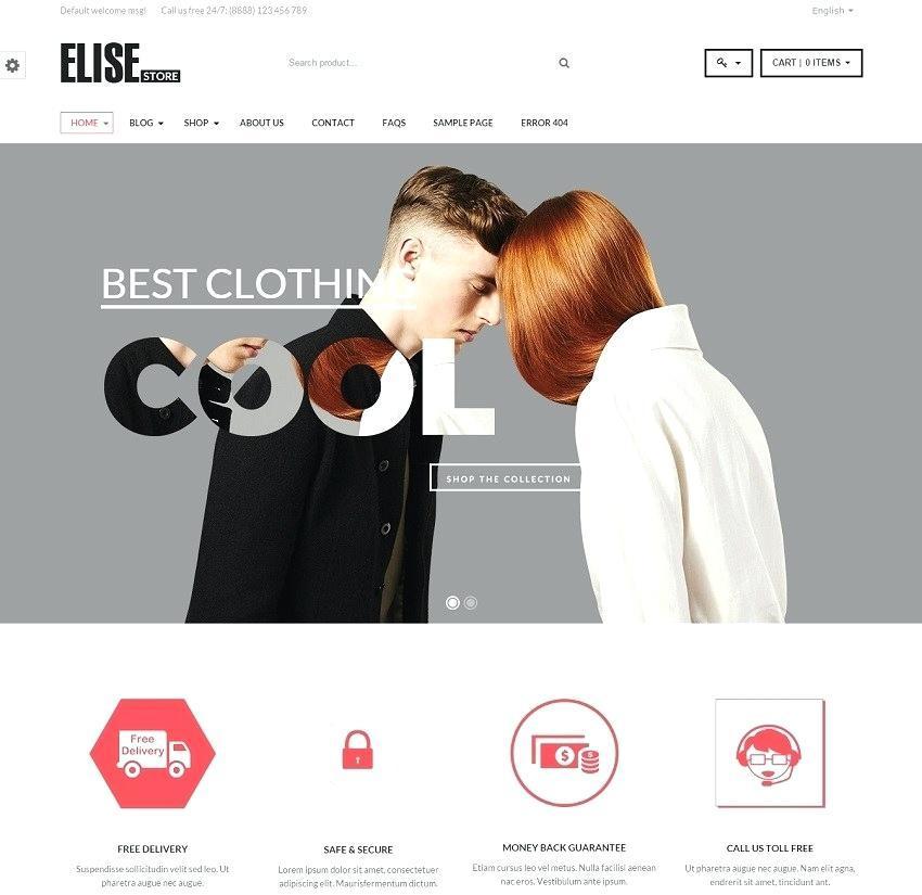 Free Ecommerce WordPress Theme 2015