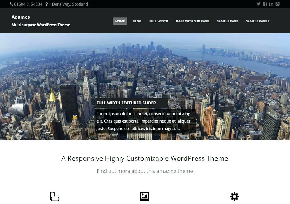 Free Ecommerce WordPress Themes With Slider