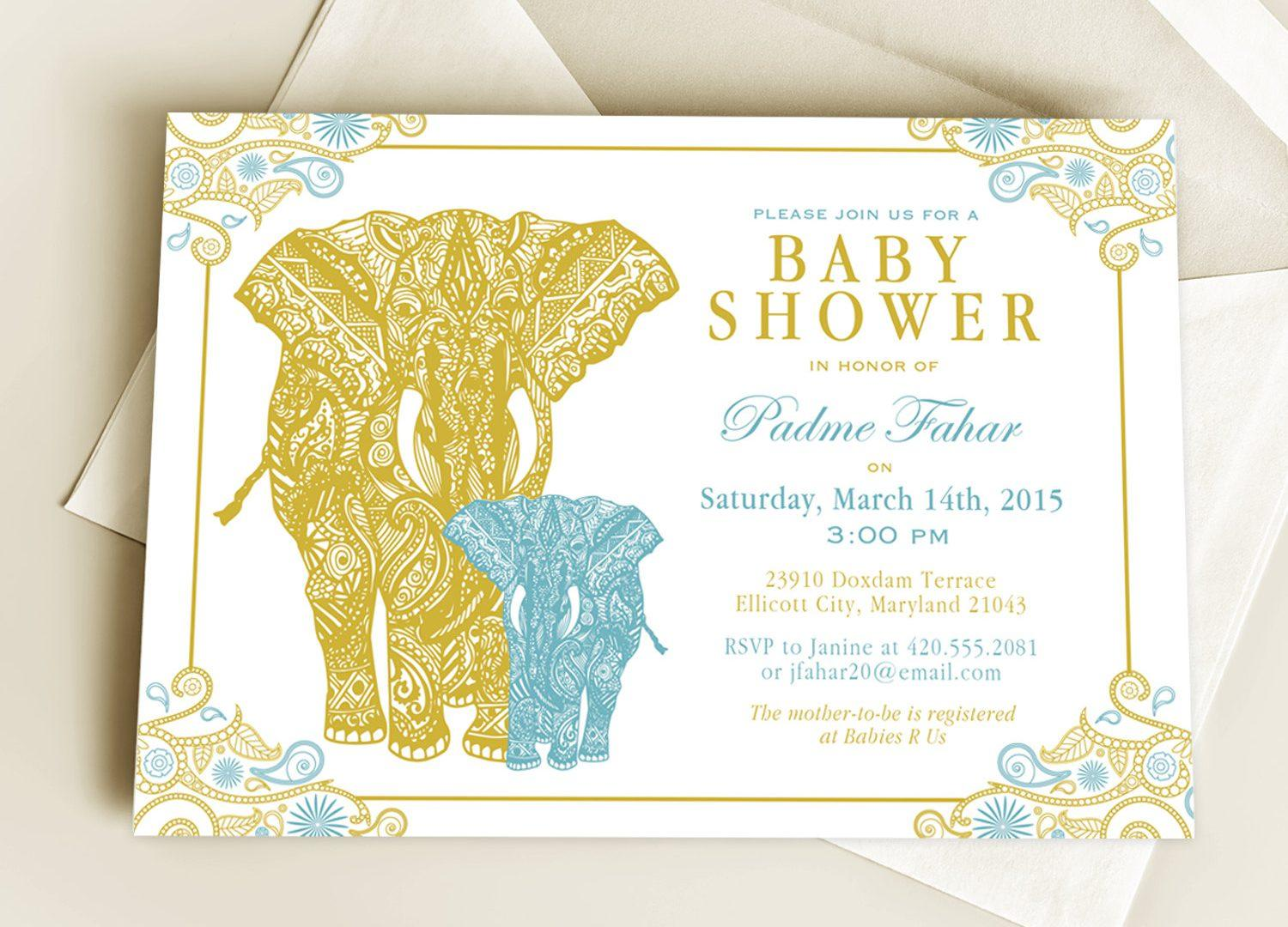 Free Editable Baby Shower Invitation Templates India