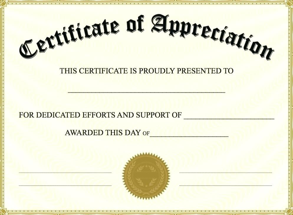 Free Editable Certificate Of Recognition Templates