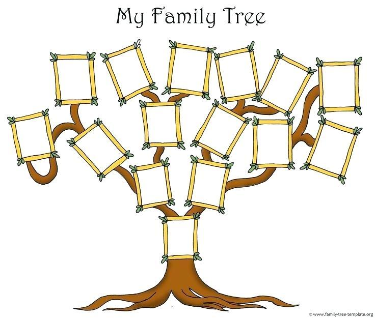 Free Editable Family Tree Template With Photos
