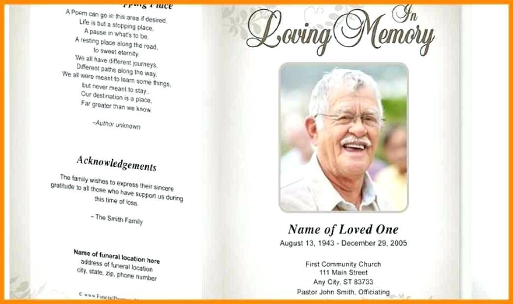 Free Editable Funeral Memorial Program Templates