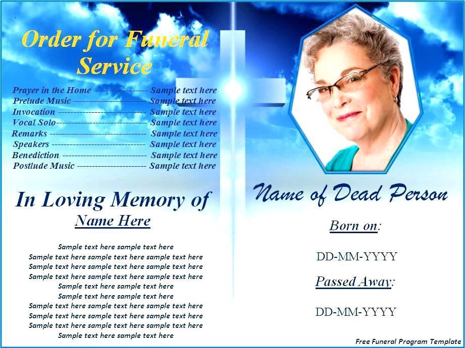 Free Editable Funeral Program Template Microsoft Word Uk