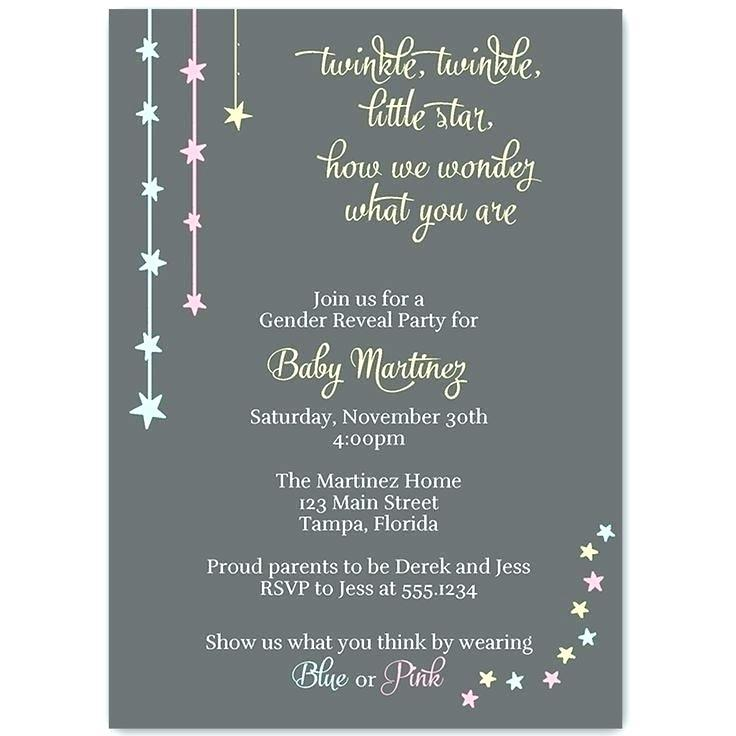 Free Editable Gender Reveal Invitation Templates