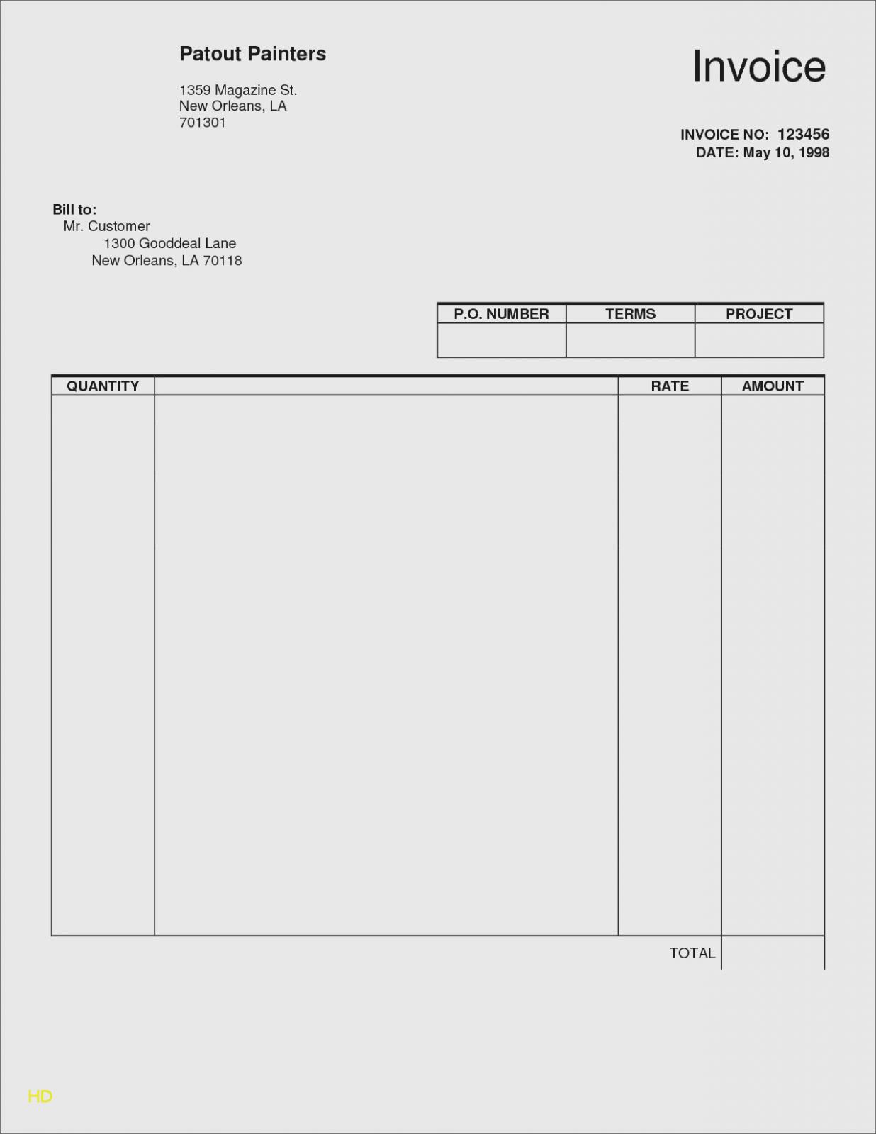 Free Editable Invoice Template Download