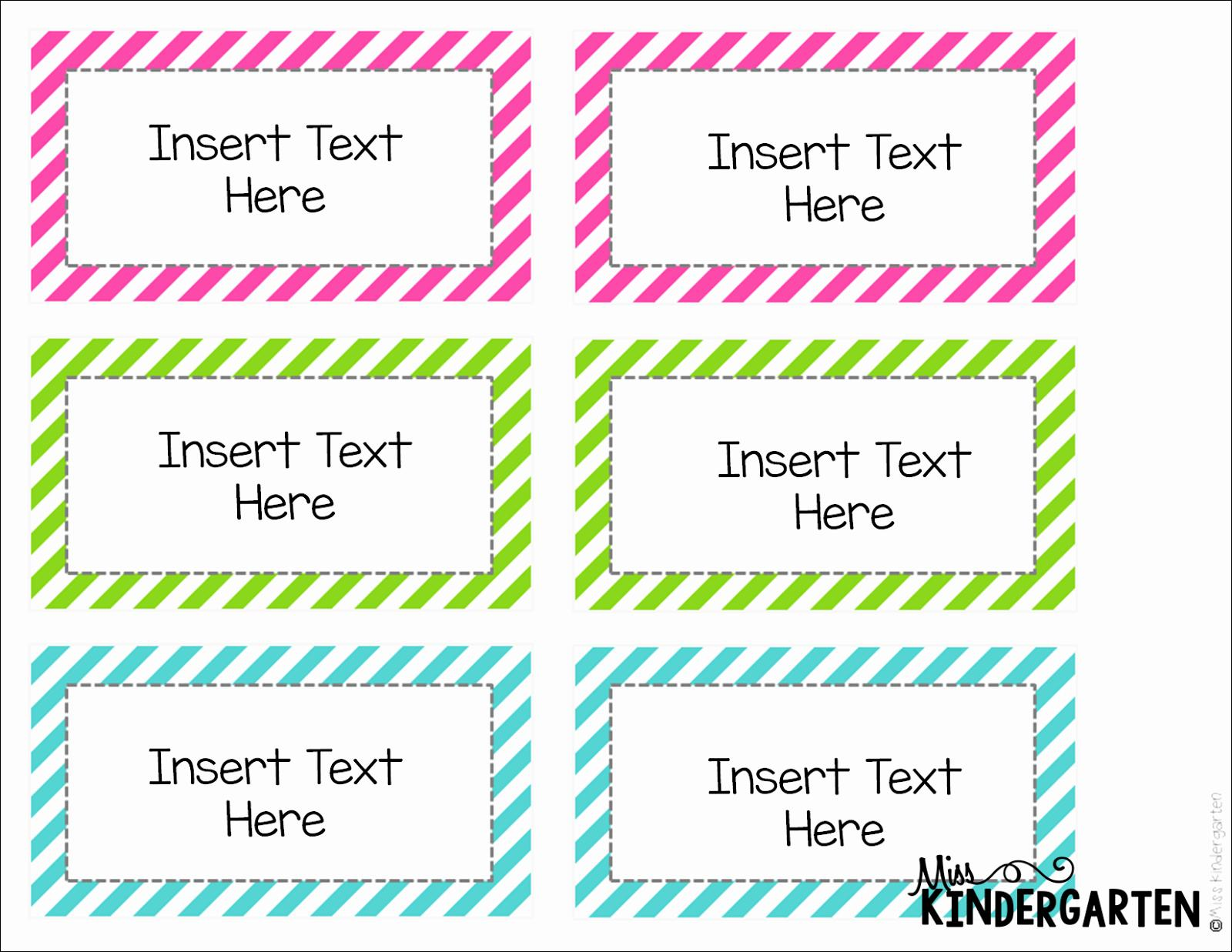 Free Editable Label Templates For Word