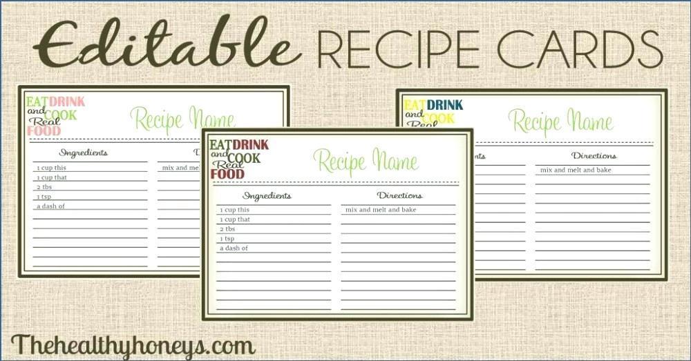Free Editable Recipe Binder Templates