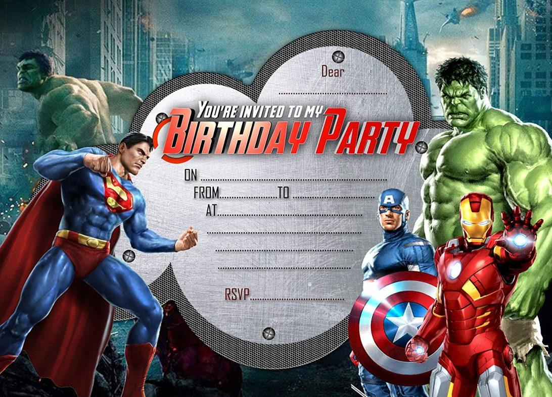Free Editable Superhero Birthday Invitation Templates