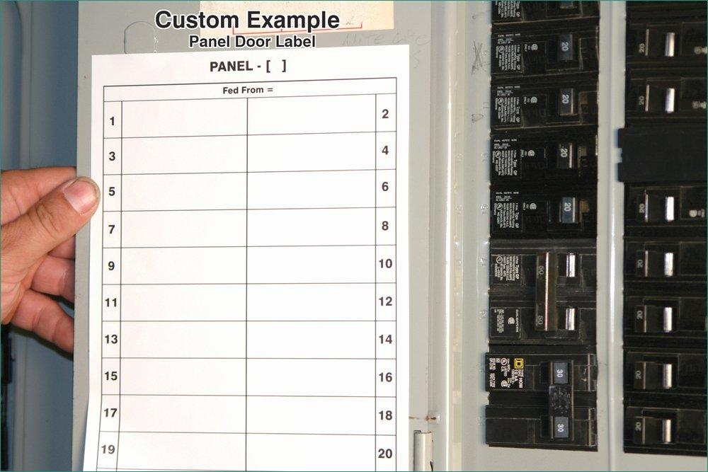 Free Electrical Panel Labels Template