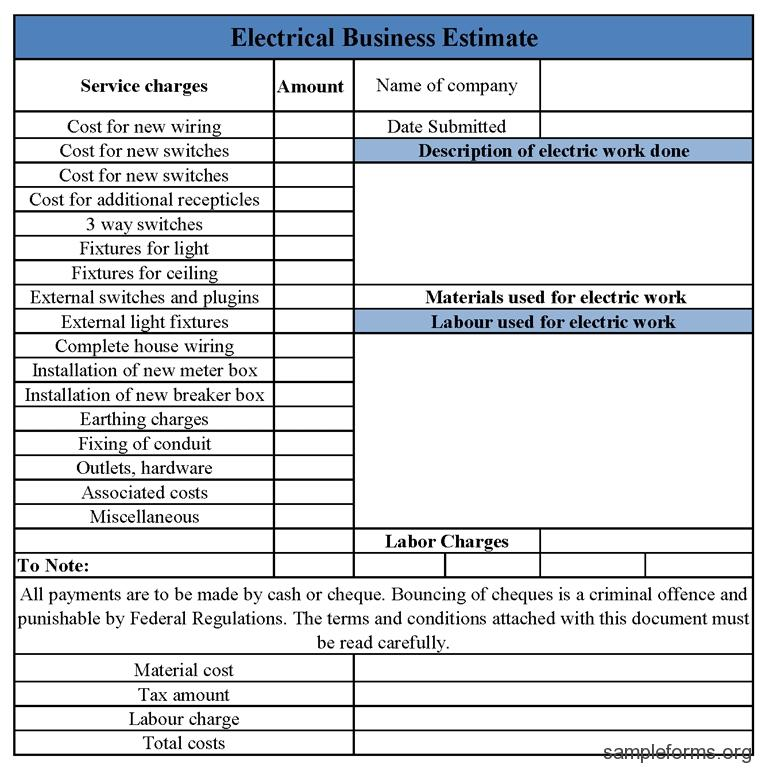 Free Electrical Proposal Template