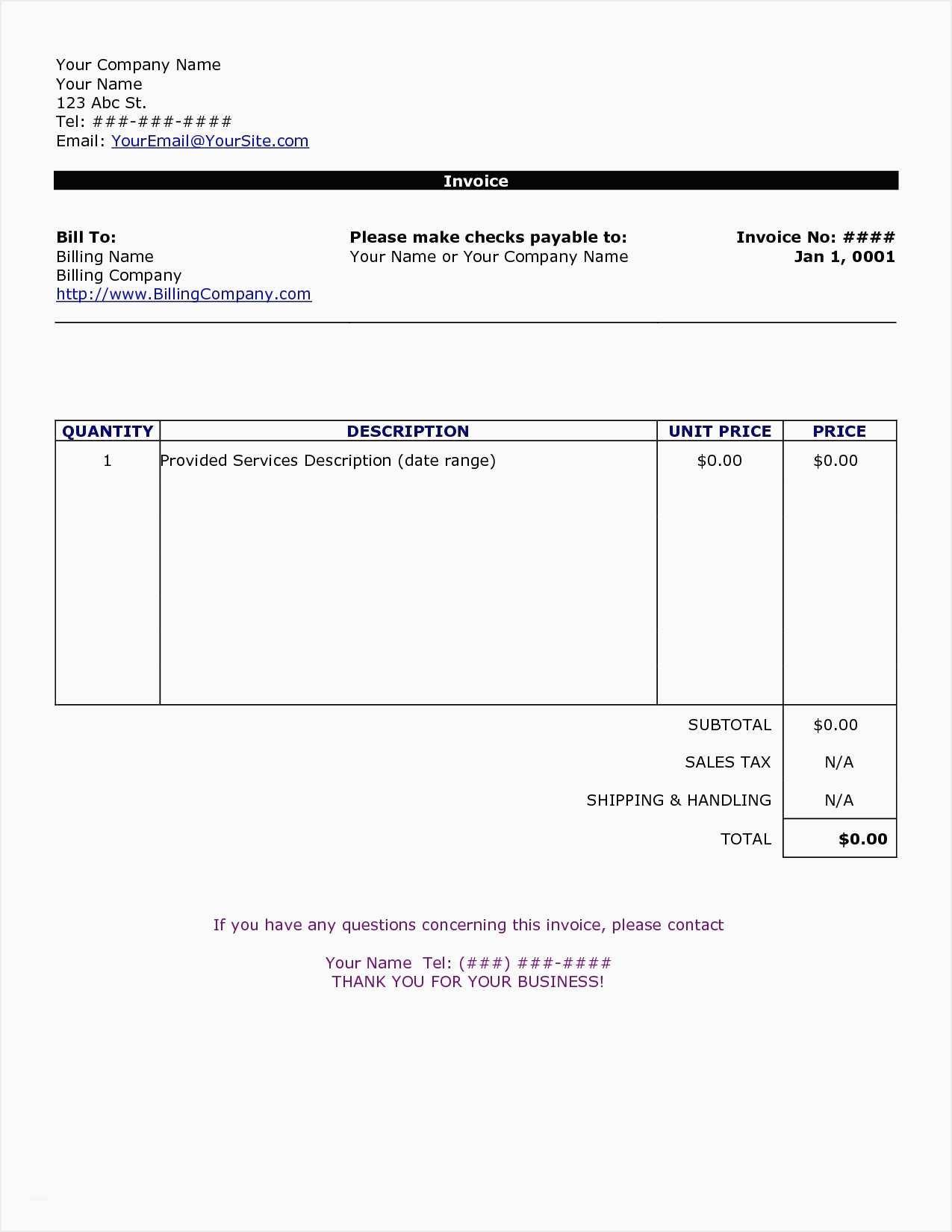 Free Elegant Invoice Templates