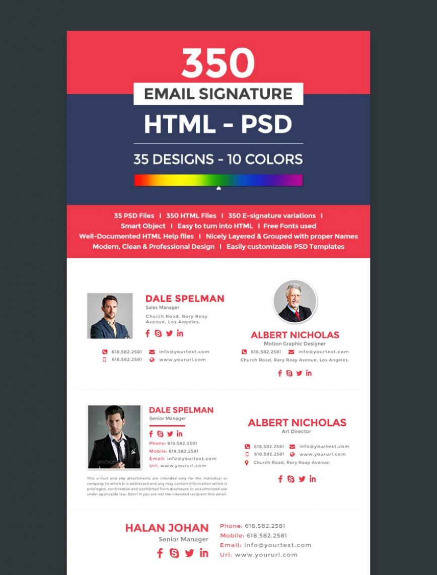 Free Email Signature Templates For Mac