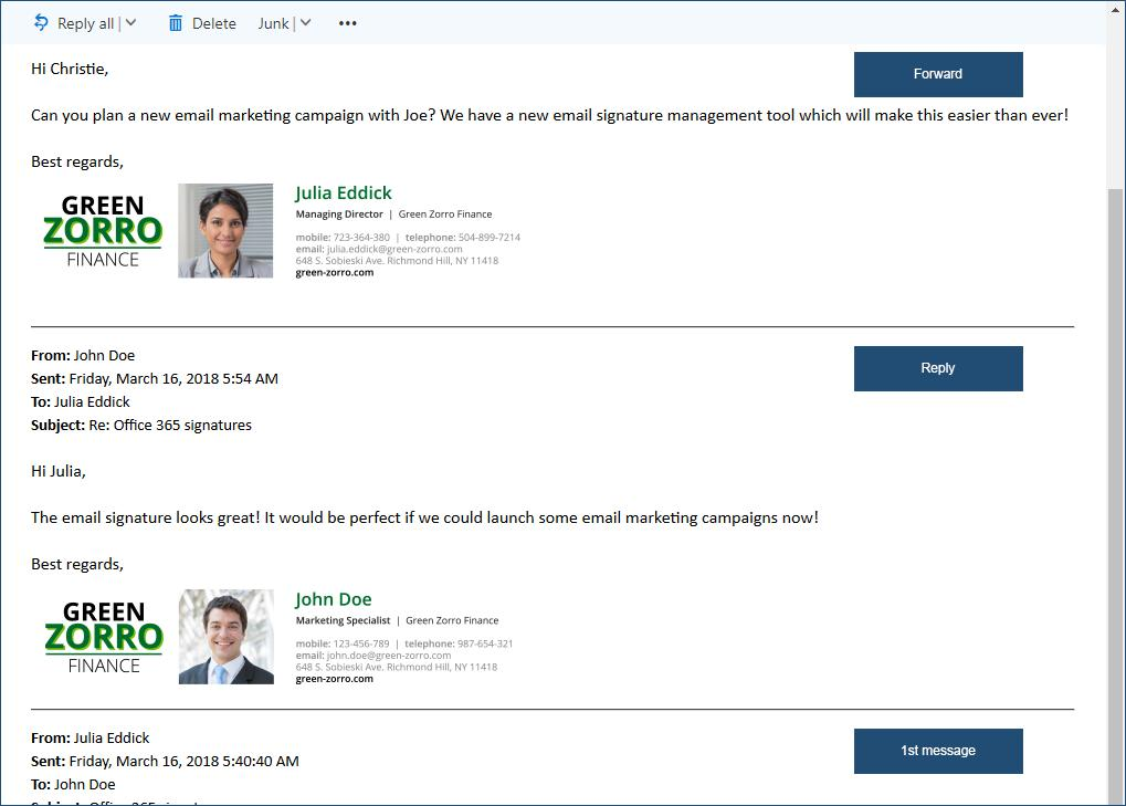 Free Email Signature Templates For Office 365