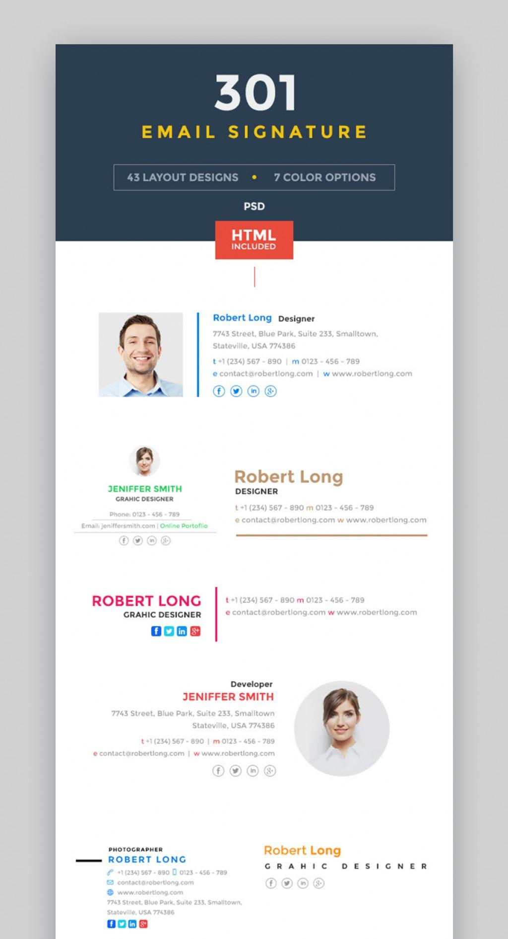 Free Email Signature Templates For Yahoo