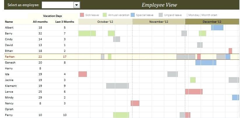 Free Employee Holiday Calendar Template