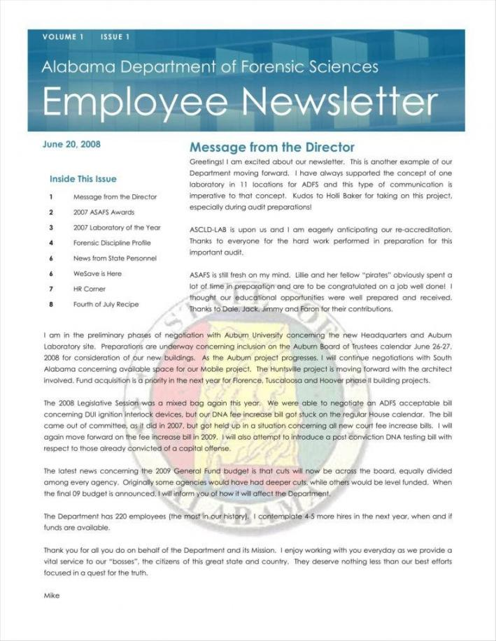 Free Employee Newsletter Templates