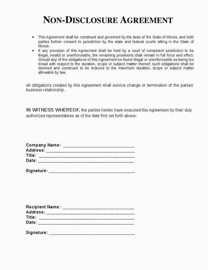 Free Employee Non Disclosure Agreement Template