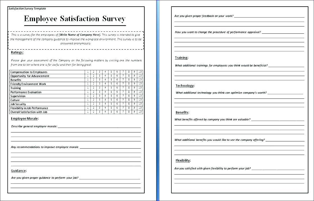Free Employee Satisfaction Survey Questionnaire