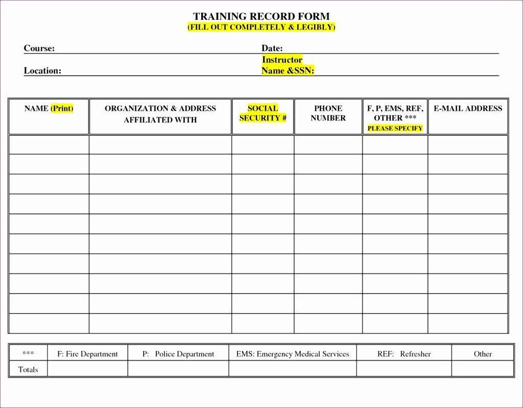 Free Employee Training Tracker Template