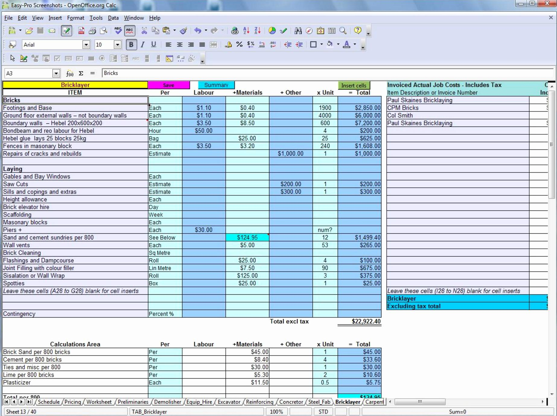 Free Estimate Template Excel