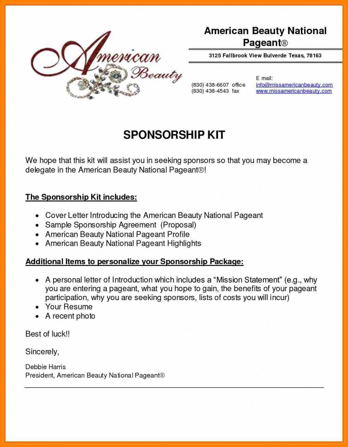 Free Event Sponsorship Proposal Template Doc