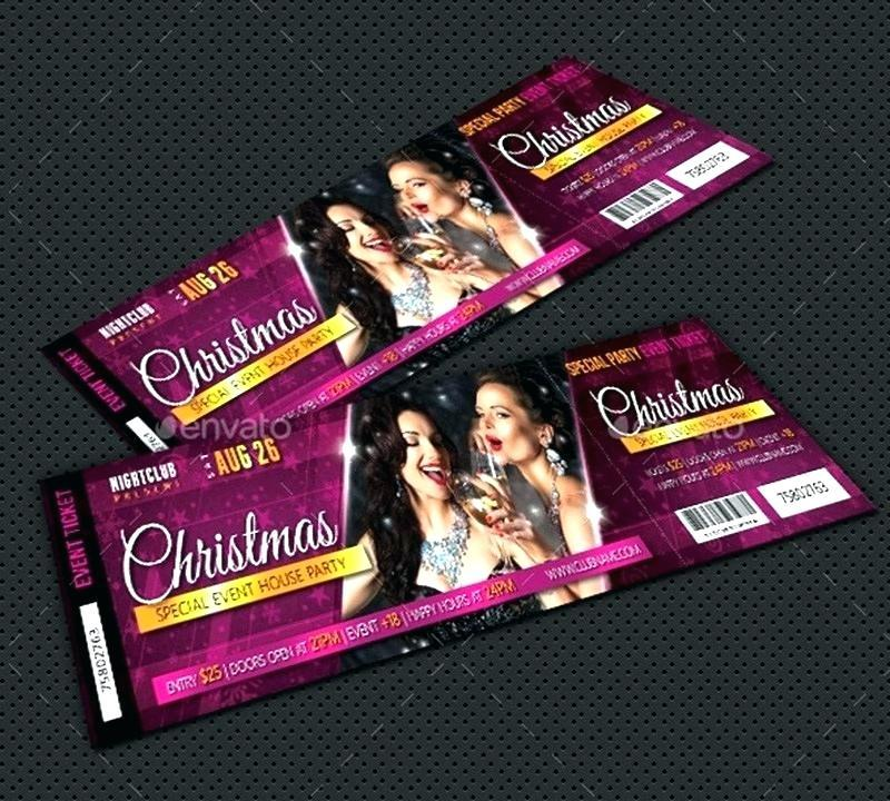 Free Event Ticket Template Photoshop