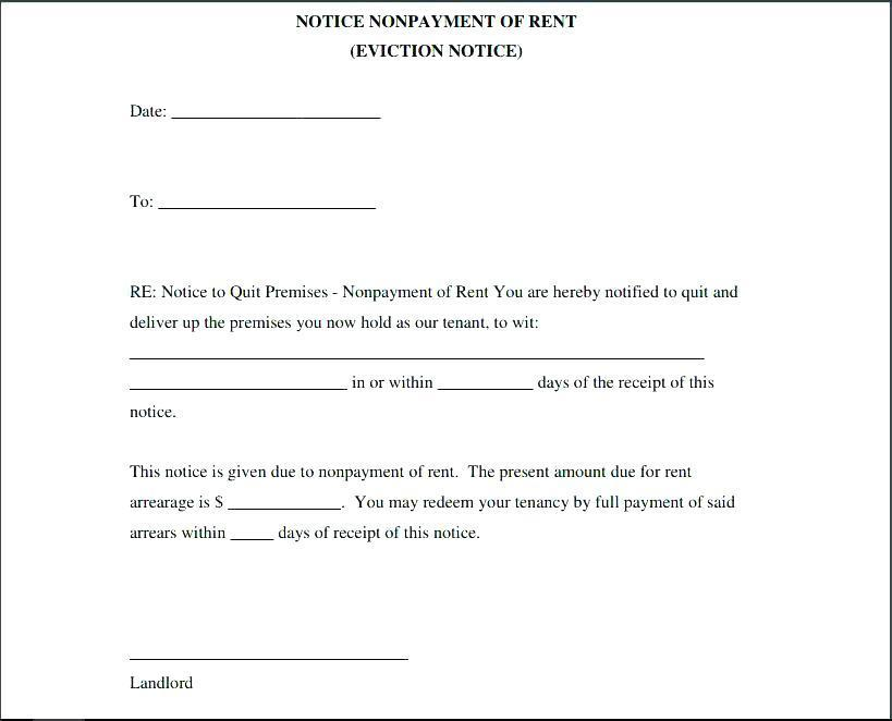 Free Eviction Notice Template Sc