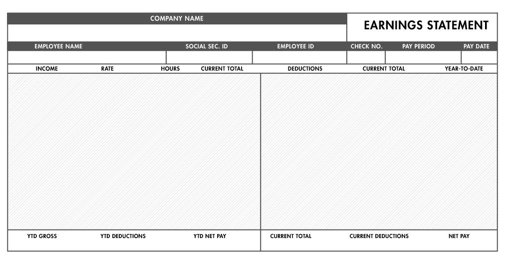 Free Excel Pay Stub Template