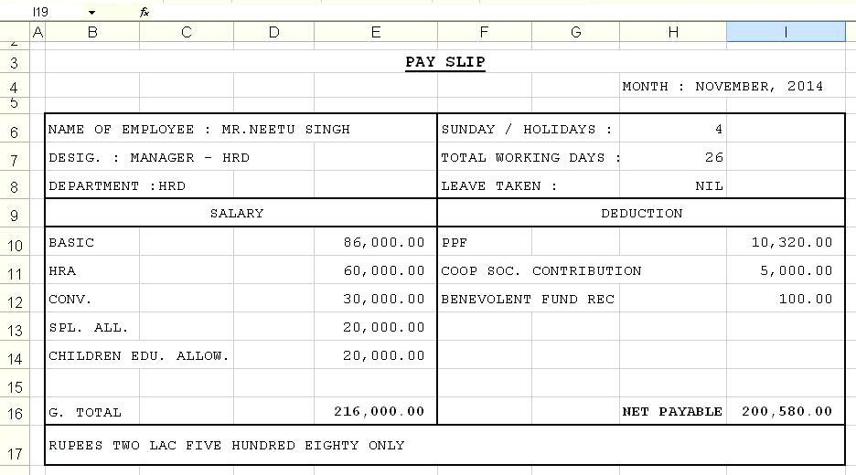 Free Excel Payroll Template Australia