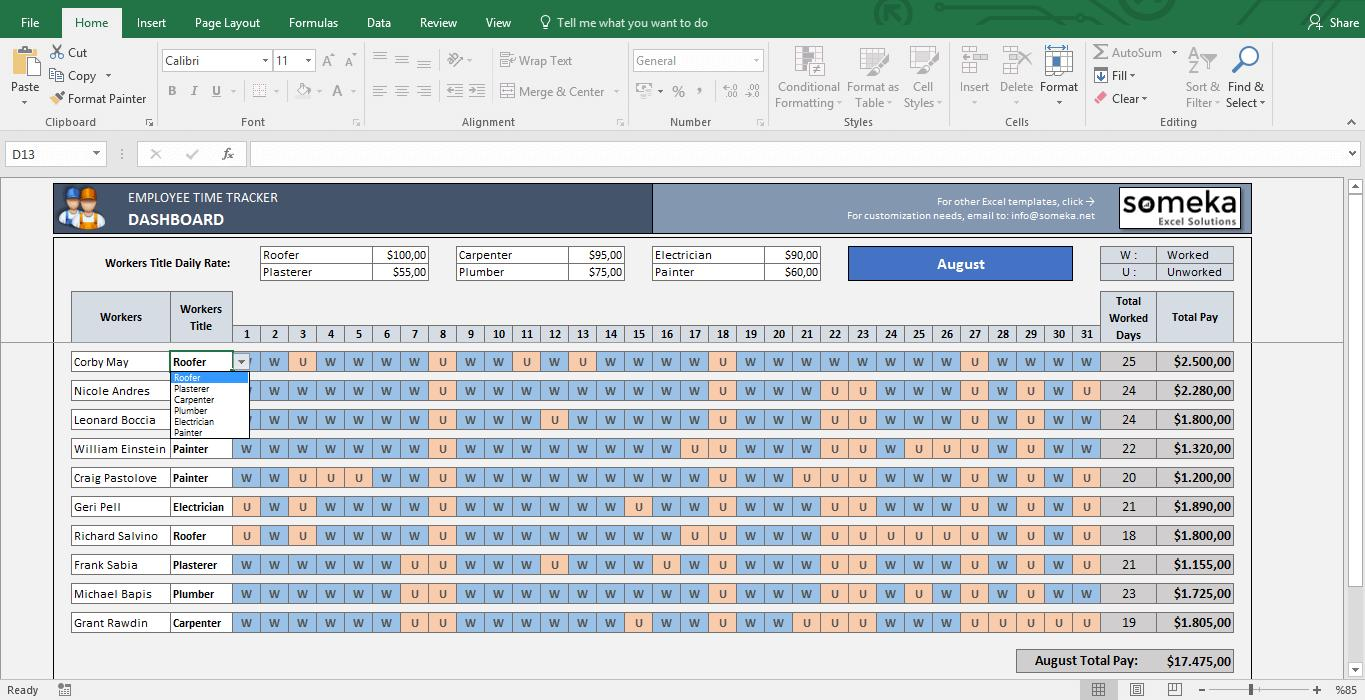 Free Excel Payroll Template