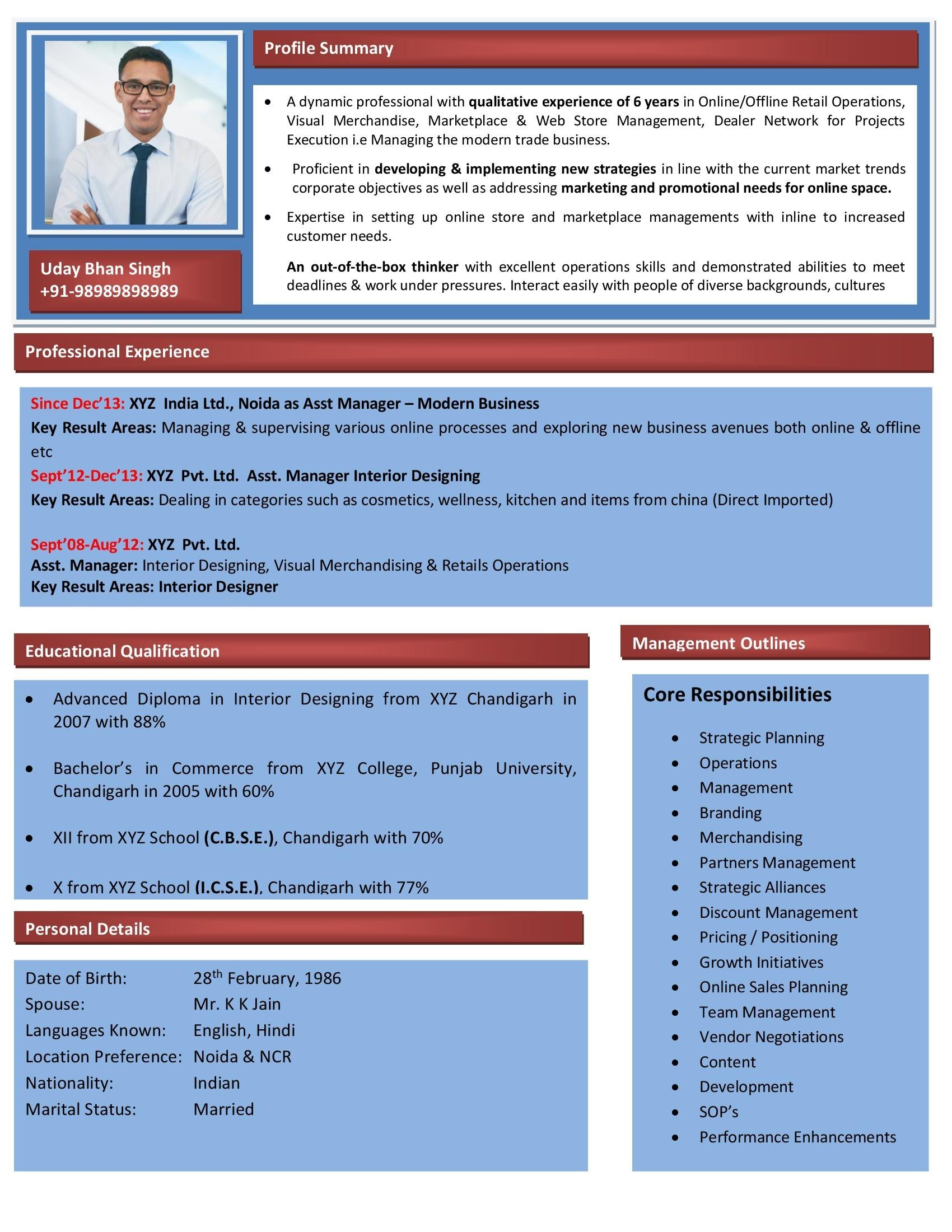 Free Executive Resume Templates For Word