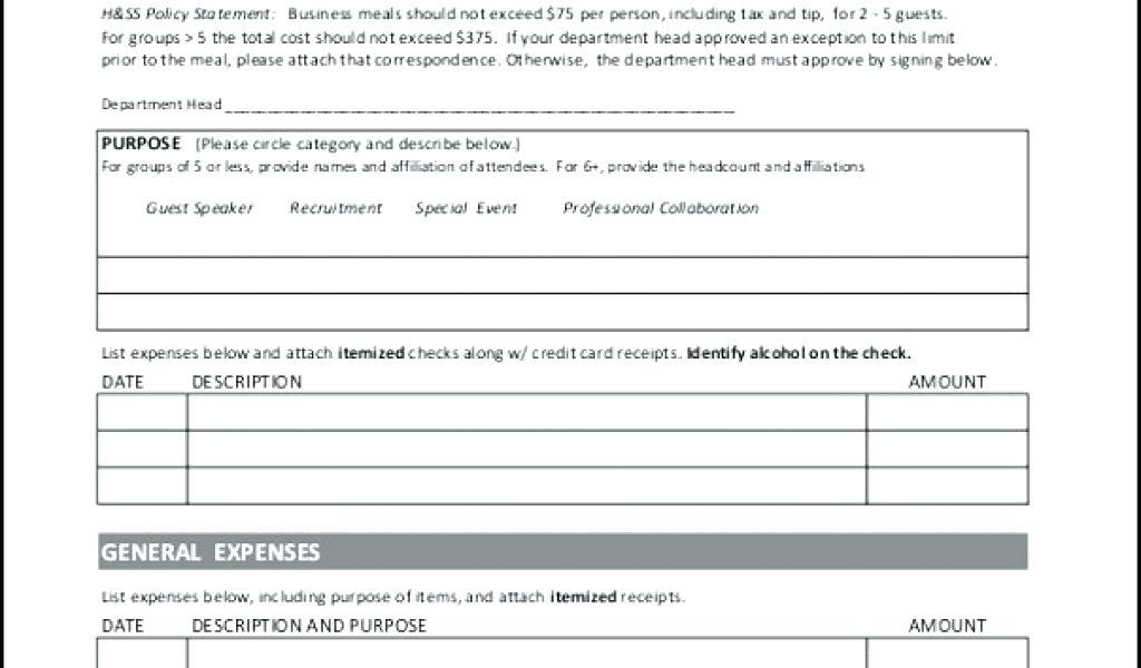 Free Expense Report Template For Taxes