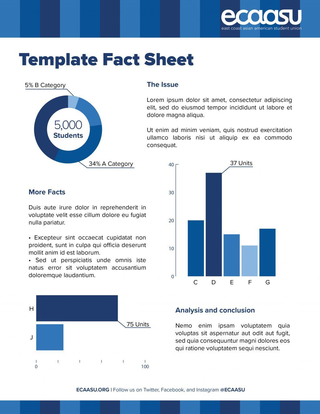 Free Fact Sheet Template Indesign