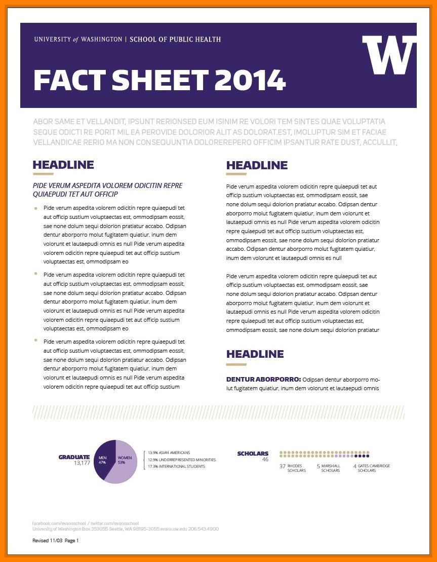 Free Fact Sheet Template Word