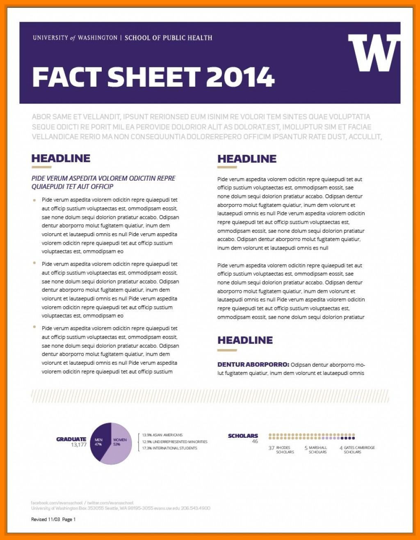 Free Fact Sheet Templates
