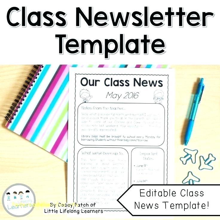 Free Fall Newsletter Templates Word